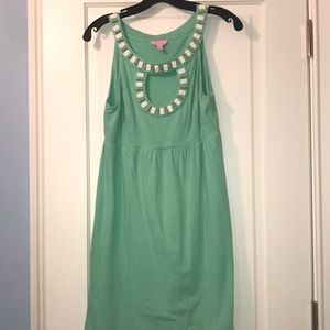 Sea foam Green key hole Lilly Pulitzer dress